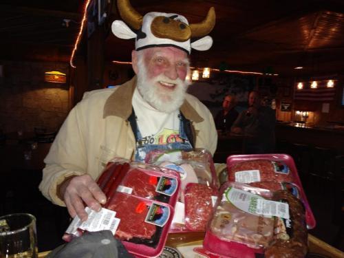 Big winner winner at meat    raffle