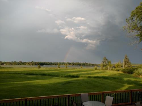Rainbow on the patio