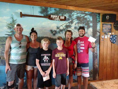 Winners of the Corn hole Contest Laporte Days